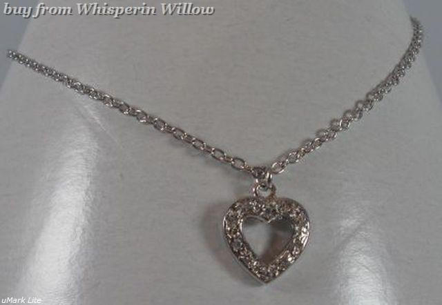 Cut out ss cz heart charm anklet 1 3