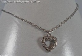 """9"""" Sterling Silver Anklet with Cz Heart  - $28.99"""