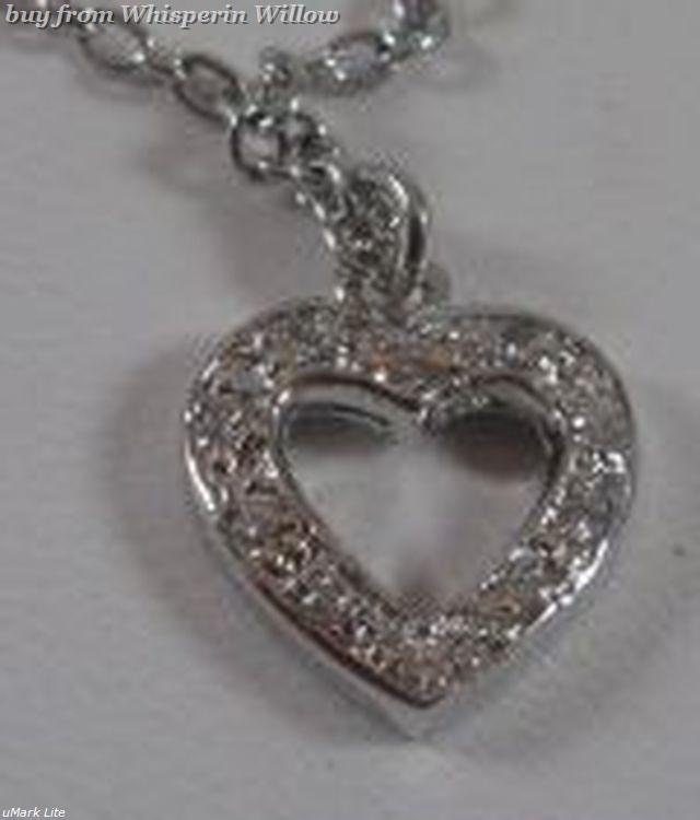 "9"" Sterling Silver Anklet with Cz Heart"