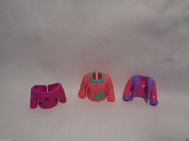 """Mattel Polly Pocket Lot of 3 Replacement Pink Tops for 3 1/2"""" Dolls - $1.34"""