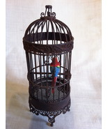 Miniature Bird Cage with Parrot - $45.00
