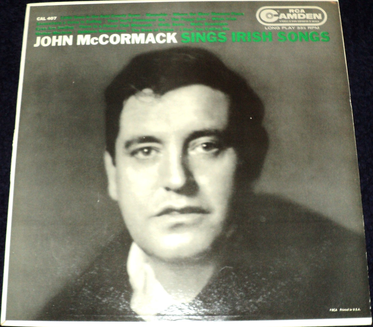 JOHN MCCORMACK SINGS IRISH SONGS LP