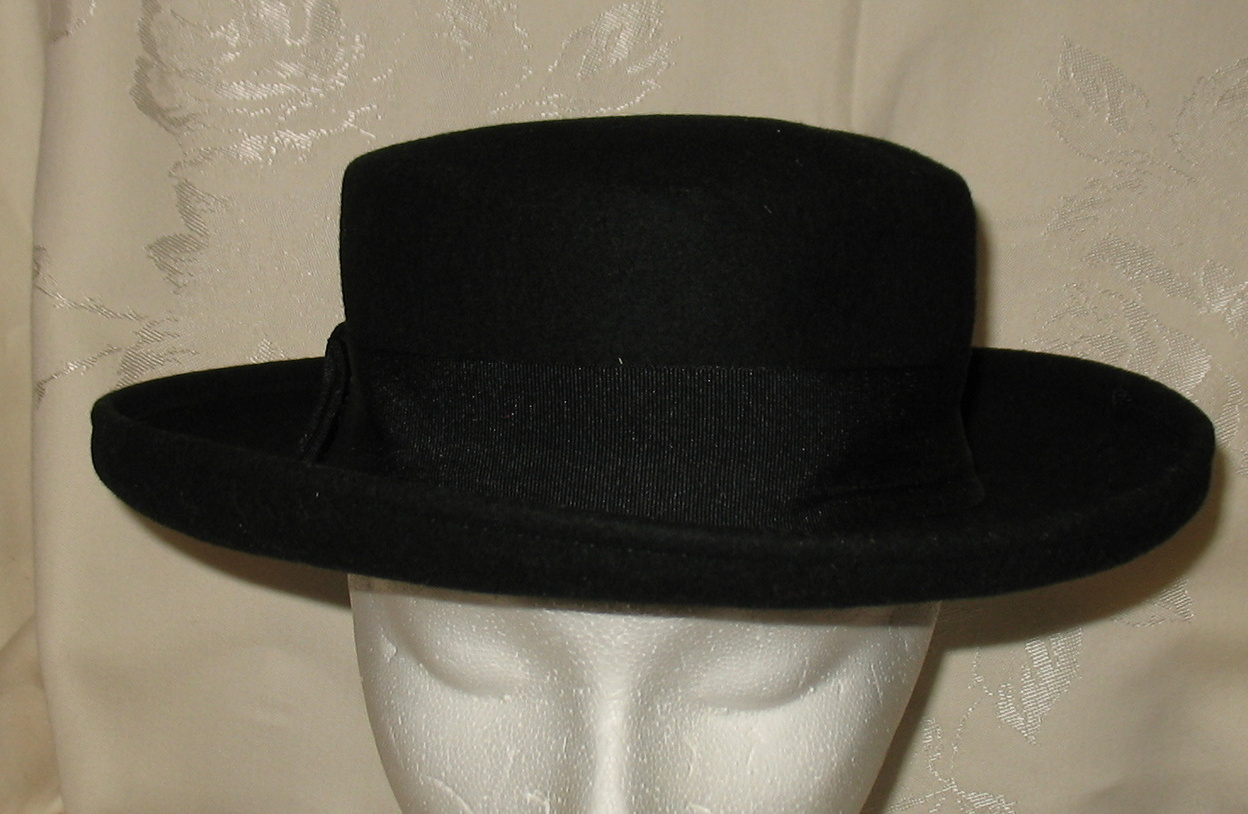 Vintage Bollman Black Wool Felt Doeskin Hat