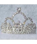 Pageant Crown Swarovski Crystal Ponytail Holder Clip - $24.50