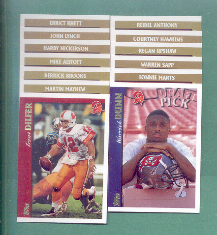 1997 Topps Tampa Bay Buccaneers Football Team Set