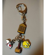 Tweety Bird and Slyvesters Metal Charms Key Chain Looney Tunes Keychain - $10.05