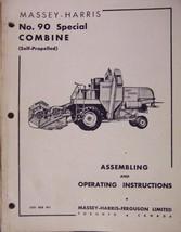 Massey Harris 90 Special Combine Operator's Manual - $28.00