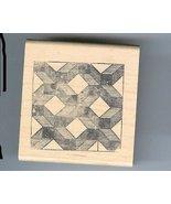 Lattice Quilt Block Pattern Rubber Stamp - $12.95