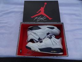 Nike Air Jordan 4 Retro Ls White / Legend BLUE-MIDNIGHT Navy Size 8.5 N Box - $84.99