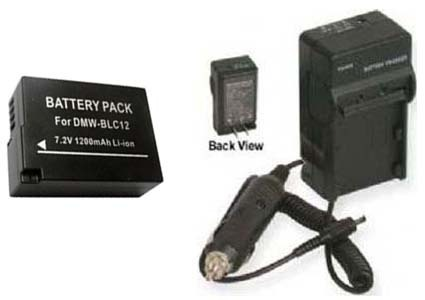 Battery + Charger for Panasonic DMC-GH2H DMC-GH2K DMC-GH2 DMC-FZ200 DMC-FZ200K