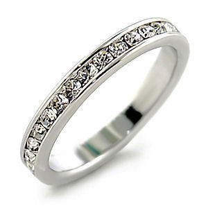 Stackable Ice on Fire Russian CZ Eternity Band Ring 12