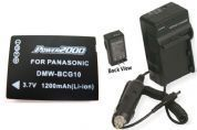 Battery + Charger for Panasonic DMC-ZS10K DMC-ZS10N