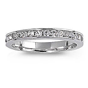 Stackable Ice on Fire Russian CZ Eternity Band Ring s 7