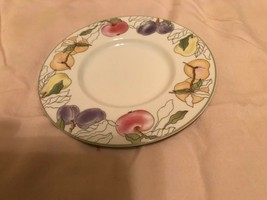 Block China Spal  Saucer/Snack Plates Fruits Pattern  REDUCED  - $9.99