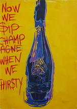 """Timmy Sneaks Oil Painting on Canvas Wall Decor Graffiti art Champage 28x40"""" - $31.67"""