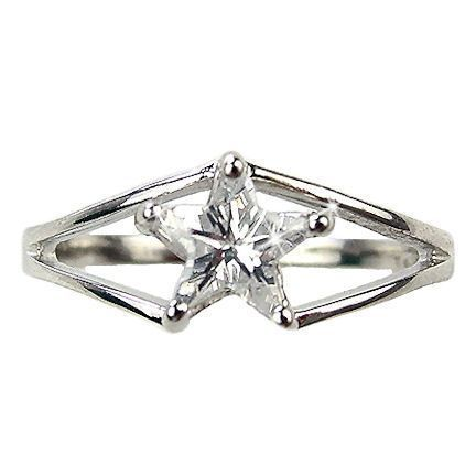 Star of Texas Russian CZ Promise Friendship Ring s 8