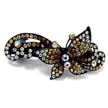 Topaz Butterfly Swarovski Crystal Rhinestone Ba... - $14.50