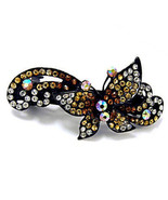 Topaz Butterfly Swarovski Crystal Rhinestone Barrette - $14.50