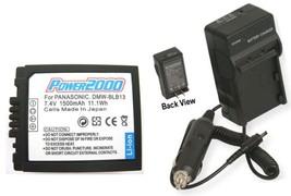TWO DMWBLB13E Batteries + Charger for Panasonic DMC-GH1KEB-R DMCG1 DMCG1A DMCG1K - $62.97