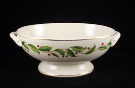 Vintage oval mistletoe bowl 1 thumb200