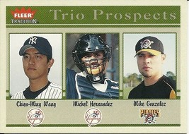 2004 Fleer Tradition Chien Ming Wang Michael Hernandez Mike Gonzalez 490 - $1.50