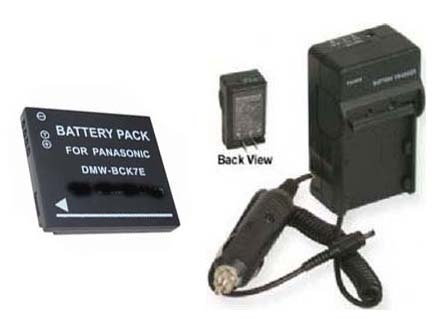 Battery + Charger for Panasonic DMW-BCK7 DMW-BCK7PP
