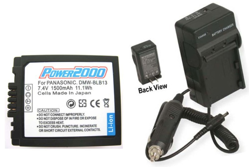 Battery + Charger for Panasonic DMW-BLB13E DMWBLB13E