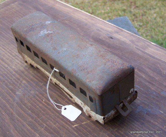 Antique Pennsylvania Railroad Automobile Car w/Wooden wheels Lot # 77