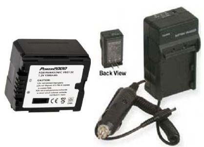 VWVBG130PP VWVBG130PPK Battery + Charger for Panasonic HDCSD10K HDC-SD10PP