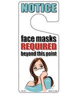 Face Masks Required White Mask Novelty Metal Door Hanger - $12.95