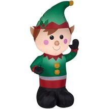 4 FT Airblown Inflatable Christmas Elf LED Lighted Lawn Yard Outdoor Decor - £53.27 GBP