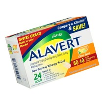 Alavert Allergy 24-Hour Relief (60 Count Citrust Burst Flavor Orally Dis... - $21.80