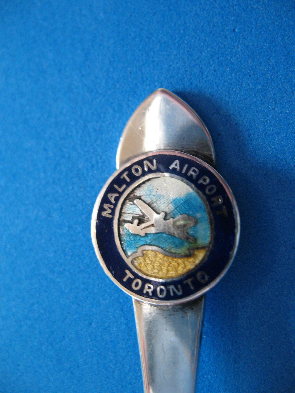 Primary image for Malton Airport Toronto Sterling Silver Souvenir Collector Spoon Airplane Vintage