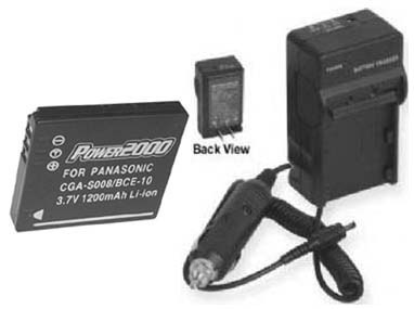 TWO Batteries + Charger for Panasonic DMC-FS3 DMC-FS3S DMC-FS3A DMC-FS3P DMC-FS5