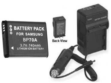 TWO 2 Batteries + Charger for Samsung EC-SL605ZBPSUS ECSL605ZBPSU EC-TL105ZBPLUS