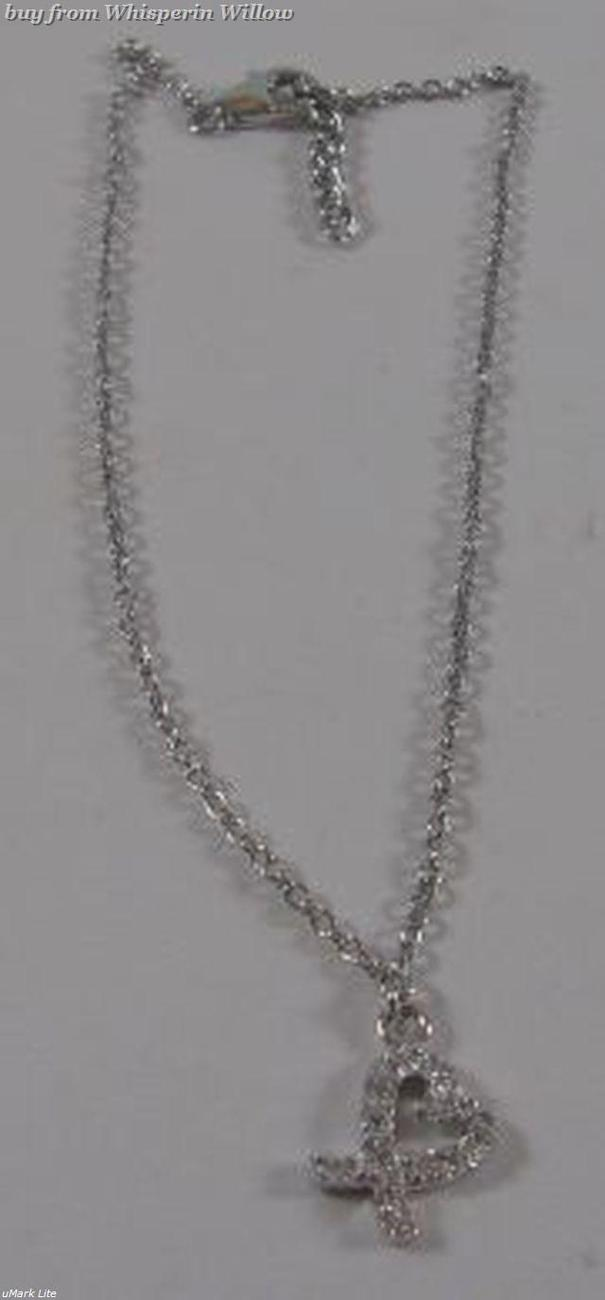 Ss cz heart charm anklet 1