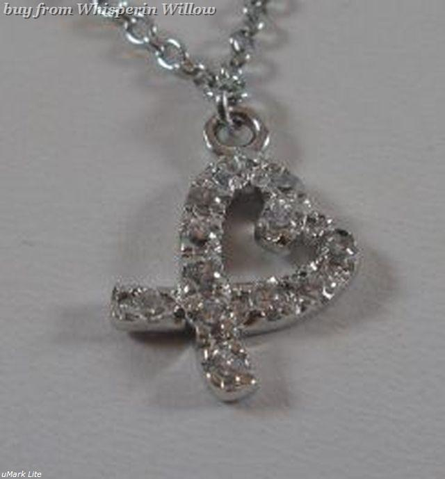 Sterling Silver Cz Heart Charm anklet