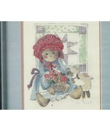No Count Cross Stitch Kit Dimensions 3633 Country Doll 9 x12 Folk Art - $9.93