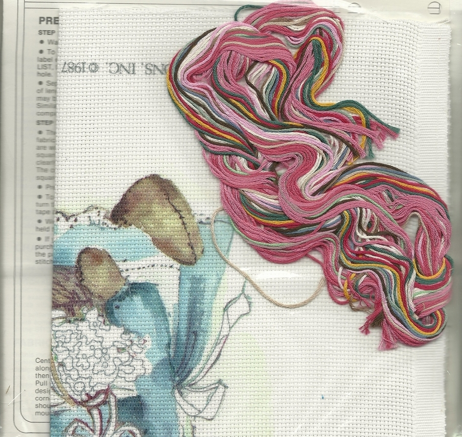 No Count Cross Stitch Kit Dimensions 3633 Country Doll 9 x12 Folk Art