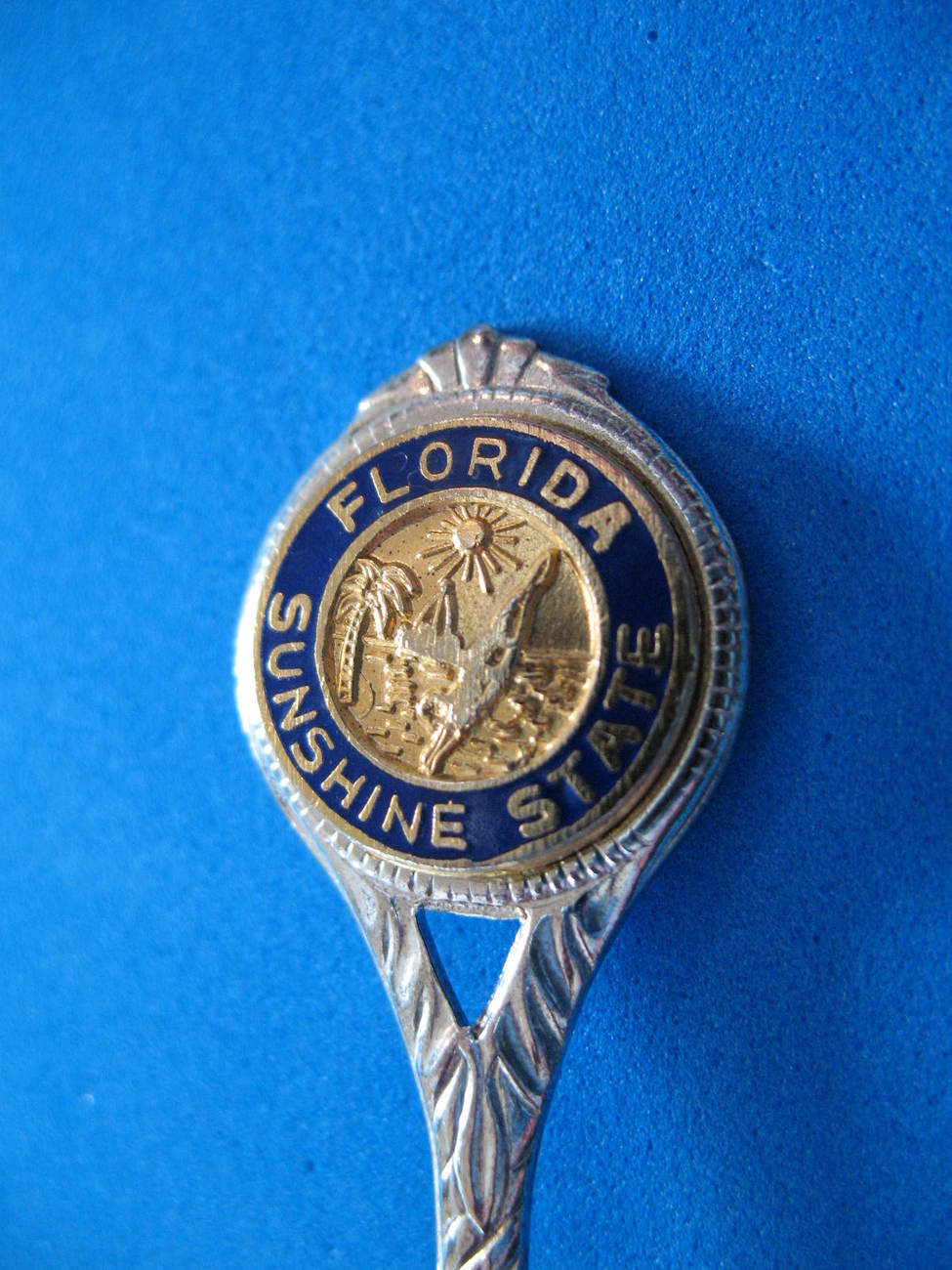 Primary image for Florida Sterling Silver Souvenir Collector Spoon Collectible Sunshine State