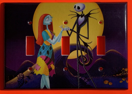 Nightmare Sally Jack front of moon Light Switch Outlet wall Cover Plate decor image 3