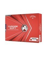 Callaway Chrome Soft Truvis Red Golf Balls (1 DOZEN) FAST SHIPPING - $41.97