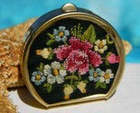 Vintage petite point needlepoint pill box flower embroidered thumb155 crop