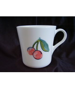 Corelle Fruit Too Coffee Cup Mug Cherries Apples - $2.00