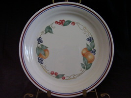 Corelle Impressions Abundance Lunch Plate Fruit Red Blue Ban - $6.00