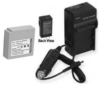 2 Batteries + Charger for Samsung HMX-H100N HMX-H100P HMX-H100NM/XAA HMX-H100NM