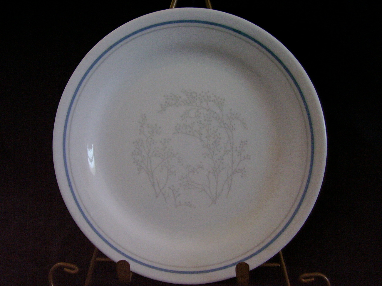 Primary image for Corelle Queens Lace Bread Butter Plate Grey Gray Blue
