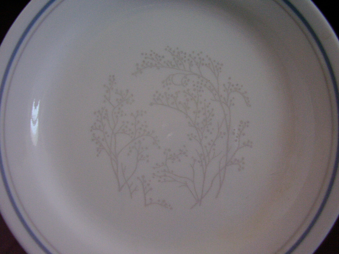 Corelle Queens Lace Bread Butter Plate Grey Gray Blue