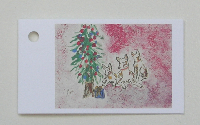 Holiday Hounds Christmas Gift Tags Dog Art Solomon