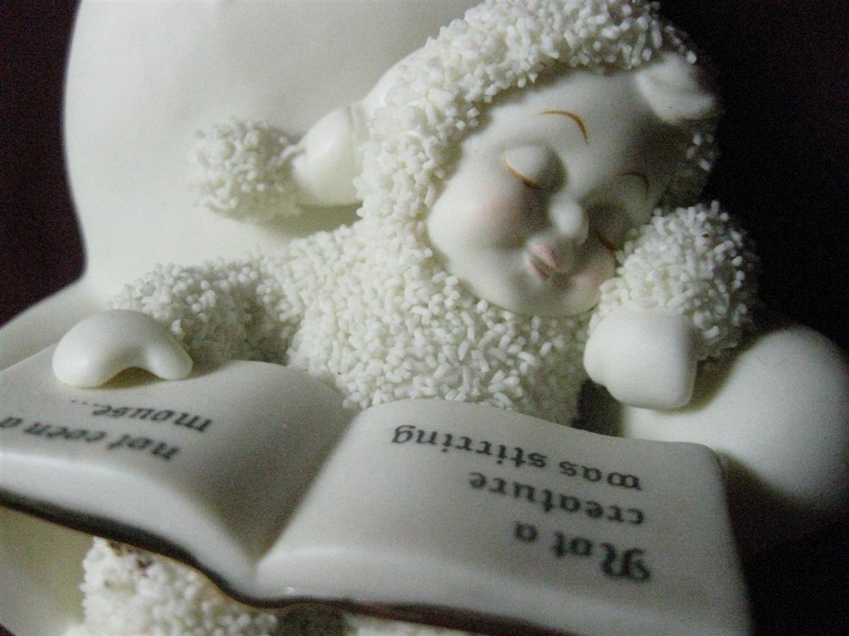 "Figurine Dept. 56 Snowbabies ""Not a Creature was Stirring""  - $18.00"